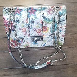 NWT INC Floral latch lock handbag